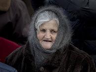 Пожилая женщина в Кишиневе, Молдова