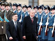 Президент Украины Владимир Зеленский и президент Турции Тайип Эрдоган