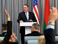 Визит госсекретаря США М. Помпео в Минск