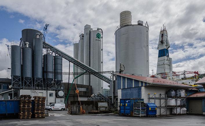 Завод Ølen Betong в Эльсвоге, Норвегия