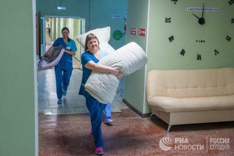 """Лечебно-реабилитационный центр """"Градостроитель"""", где будут размещены эвакуированные из Китая"""