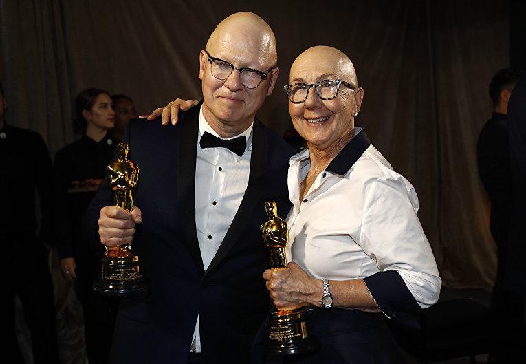 """Джулия Райхерт и Джефф Райхерт на церемонии вручения премии """"Оскар"""" в Лос-Анджелесе"""