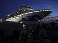Находящийся в карантине круизный лайнер Diamond Princess