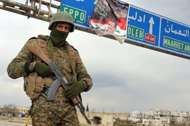 Освобожденный от боевиков сирийский г. Мааррат-эн-Нууман