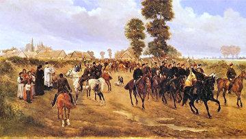 Патруль польских улан во время январского восстания 1863 года