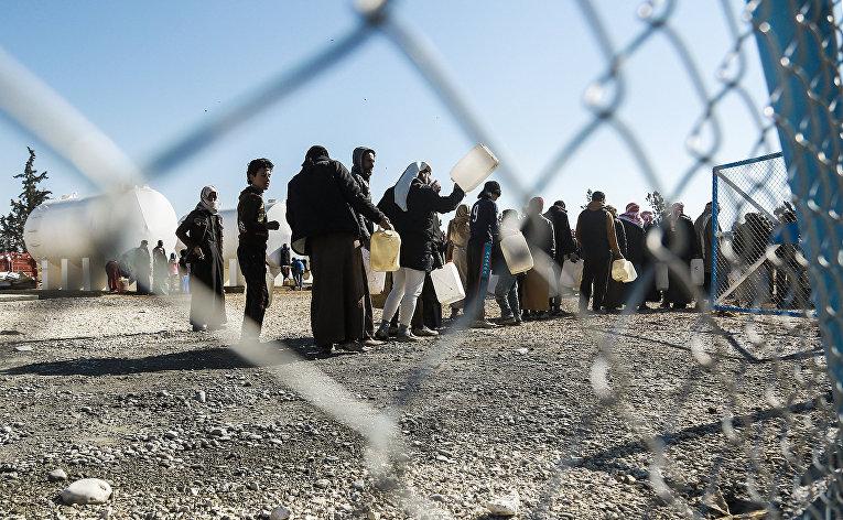 Лагерь беженцев Аль-Хол в сирийской провинции Хасаке