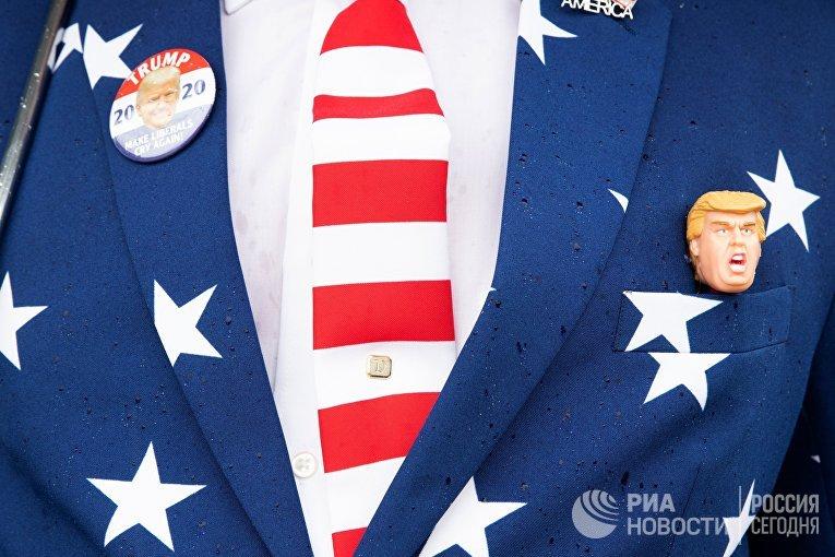 Предвыборный митинг президента США Д. Трампа в Нью-Гэмпшире