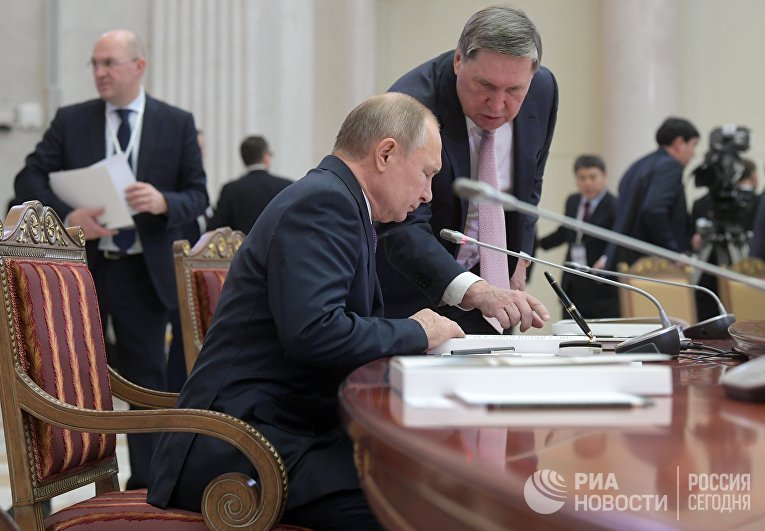 Рабочая поездка президента РФ В. Путина в Санкт-Петербург
