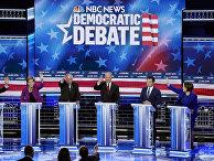 Участники дебатов кандидатов в президенты США от Демократической партии в Лас-Вегасе