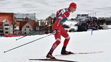 Александр Большунов на этапе Кубка мира в Оре, Швеция