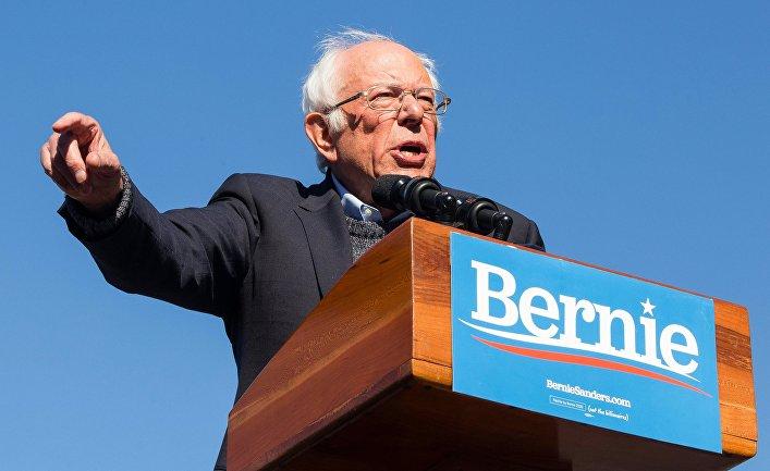 Выступление кандидата в президенты США Б. Сандерса