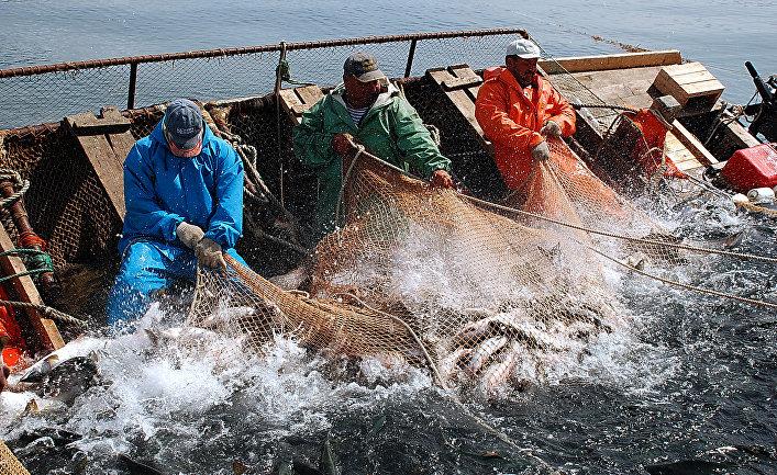Российские рыбаки