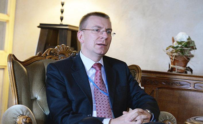 Министр иностранных дел Латвии Эдгар Ринкевич.