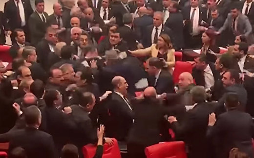 Fists Fly As Lawmakers Brawl In Turkish Parliament | NBC News