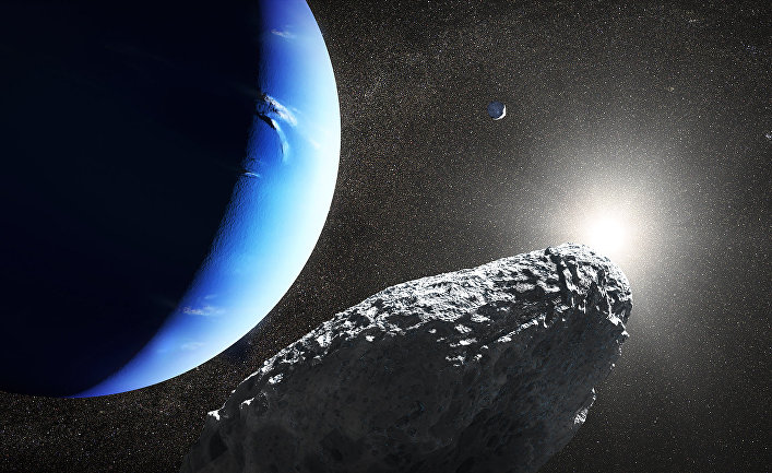Планета Нептун в представлении художника