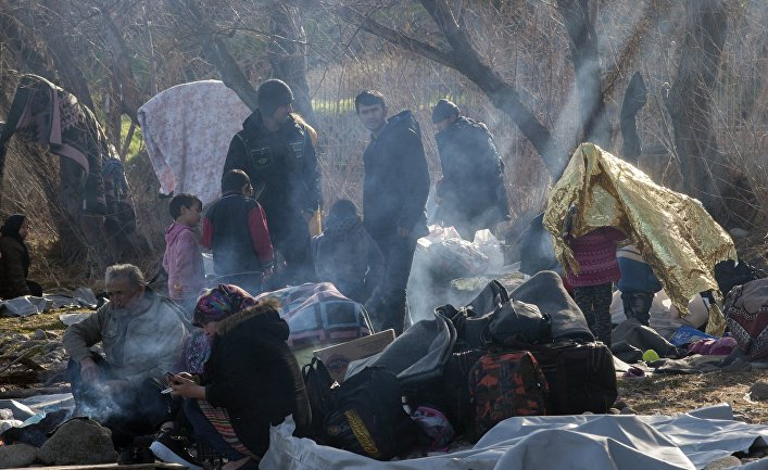 Лагерь беженцев на острове Лесбос