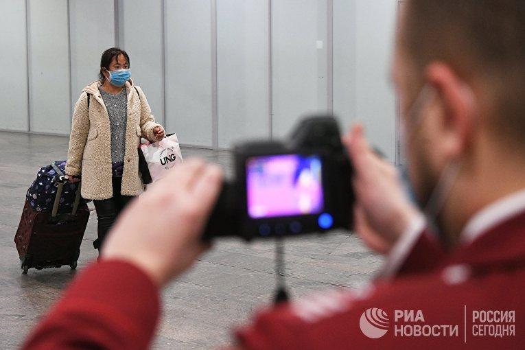 В Шереметьево усилили санитарный контроль в связи с коронавирусом