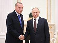 Президент РФ В. Путин встретился с президентом Турции Р. Эрдоганом 5 марта 2020