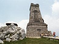 Памятник в честь русских воинов, погибших при освобождении Болгарии от турецкого ига в августе 1877 года, в Национальном парке Шипка.
