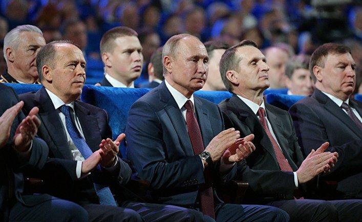 Президент РФ В. Путин поздравил сотрудников ФСБ с Днем работника органов безопасности