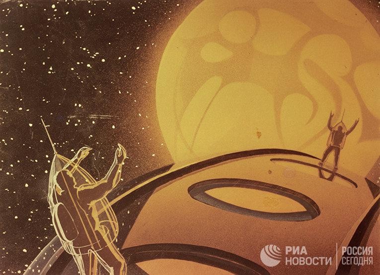 """Рисунок """"Искусственный спутник Марса"""""""