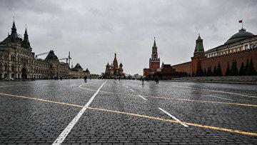 На Красной площади в пасмурную погоду