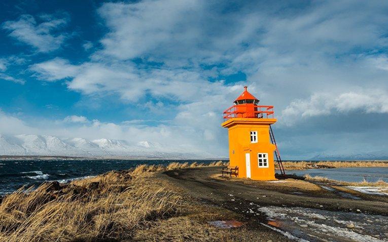 Маяк в Исландии