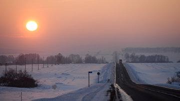 Зима в Сибири