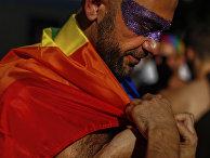 Участник ЛГБТ парада в Мадриде, Испания