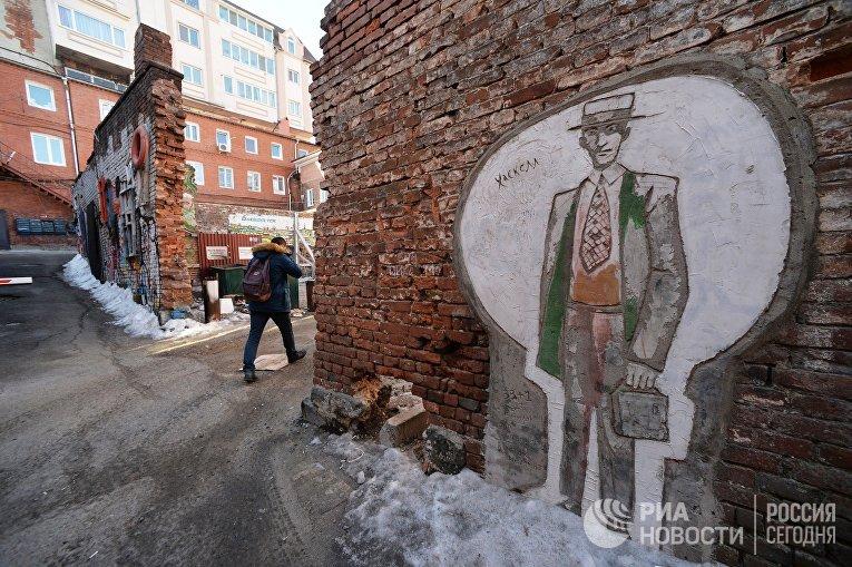 Старые кварталы в центре Владивостока