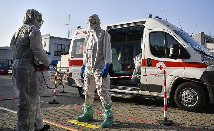 Медицинские работники в Сеттимо-Торинезе, Италия