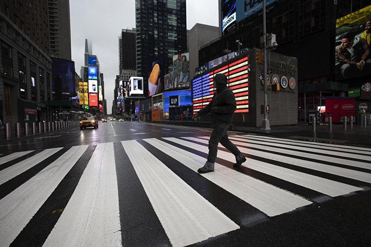 Пустые улицы Нью-Йорка