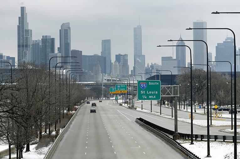 Пустые улицы Чикаго, США