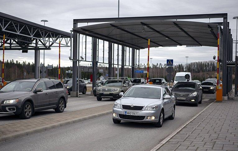 Пропускной пункт на российско-финской границе