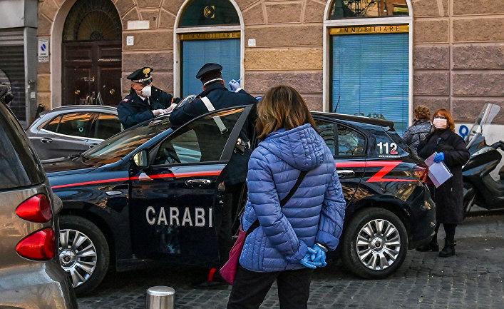 Полиция в Риме, Италия
