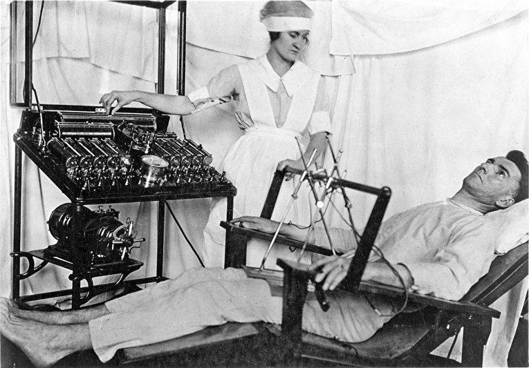 Электросудорожная терапия, начало XX века