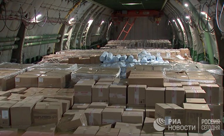 Россия отправила гуманитарную помощь США в борьбе с коронавирусом