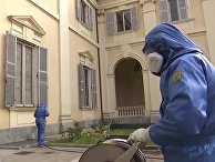 Дезинфекция пансионата для пожилых людей в Брембате-ди-Сопра