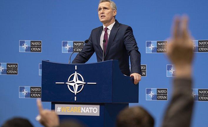 Пресс-конференция генерального секретаря НАТО Йенса Столтенберга