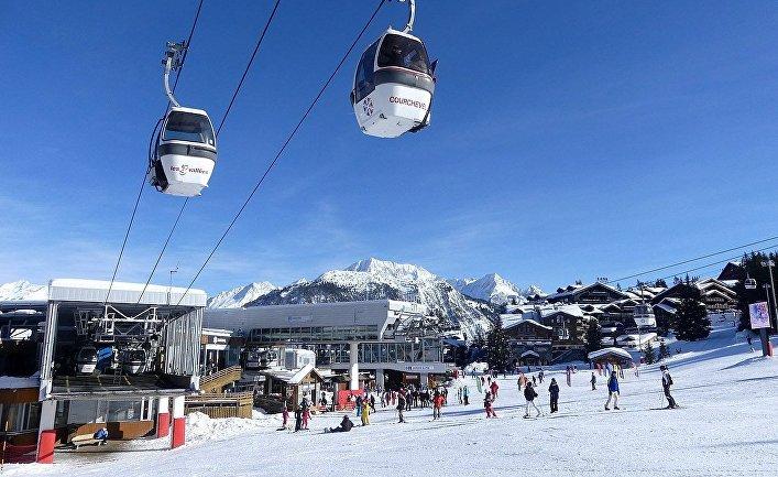 Горнолыжный курорт Куршевель, французские Альпы