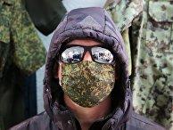 Изготовление медицинских масок в Донецке