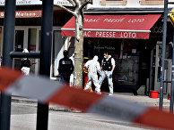 Место преступления в городе Роман-сюр-Изер, Франция