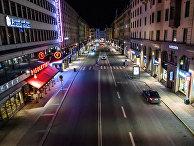 21 марта 2020. Улица Кунгсгатан, Стокгольм, Швеция