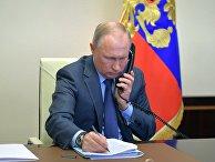 Президент РФ В. Путин провел встречу с губернатором Калининградской области А. Алихановым