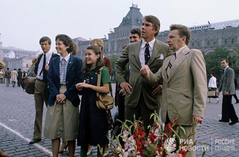 Саманта Смит на Красной площади