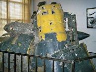 Обломки сбитого самолёта U-2 Гэри Паурса, выставленные в Центральном музее Вооружённых сил в Москве