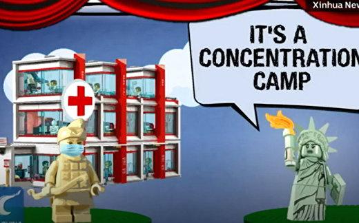 Китай США Карикатура коронавирус
