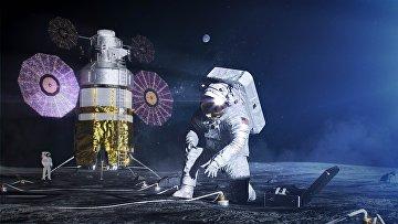 """Участники миссии на Луну """"Артемида"""" в представлении художника"""