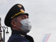 Репетиция воздушного парада Победы в Москве