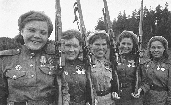 Женщины-снайперы в годы Великой Отечественной войны